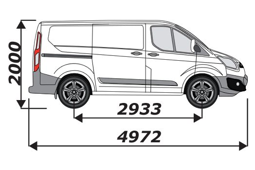 Ford Transit Custom 2012 On L1H1
