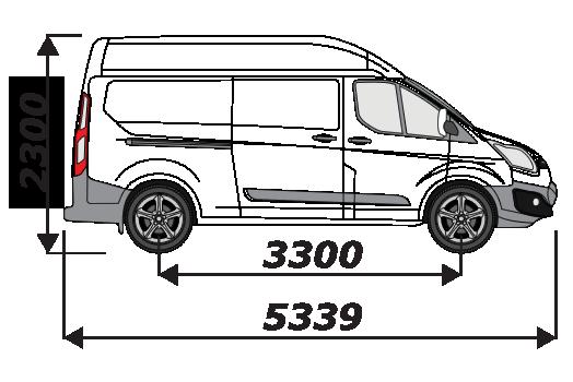 Ford Transit Custom 2012 On L2H2