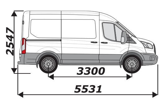 Ford Transit 2014 On L2H2