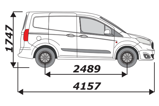 Ford Transit Courier 2014 On L1H1