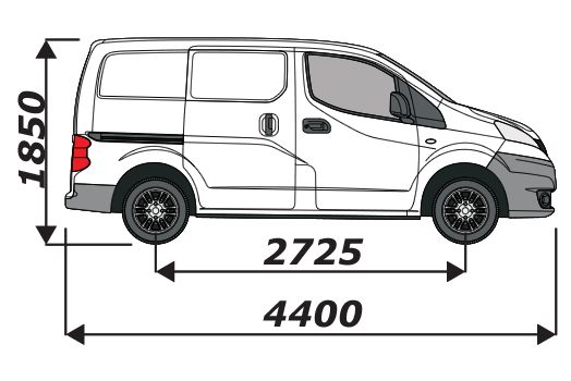 Nissan NV200 2009 On L1H1