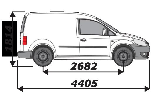 Van Guard VW Caddy 2010-On L1H1 Aluminium 1400mm 3 Bar Ulti Bars Roof Rack