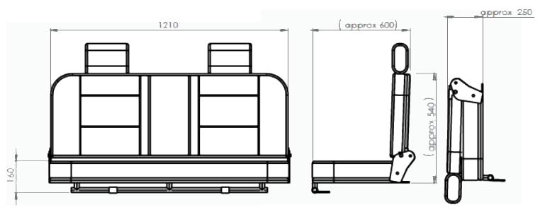 Car Derived Van Tech Outline transparent
